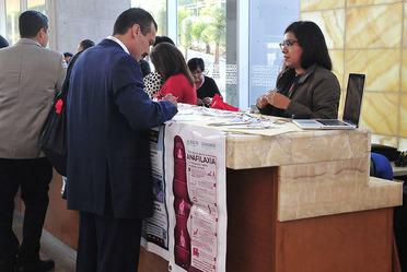 Stand de la CONAMED  9º Congreso Nacional Estudiantil de la Asociación Dental Mexicana A.C. (ADM).