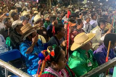 Diálogo con los pueblos triqui, mixteco tacuate, náhuatl y amuzgo.