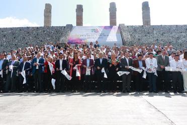 Inauguración del Primer Tianguis de Pueblos Mágicos, en Pachuca, Hidalgo.