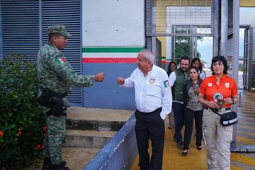 El Comisionado del INM, Dr. Francisco Garduño Yáñez, visitó en Tabasco algunos Puntos de Revisión y la Estación Migratoria de Tenosique