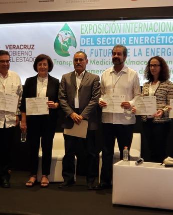 """Presentes en la """"Exposición Internacional del Sector Energético: El Futuro de la Energía"""", en Boca del Río, Veracruz."""