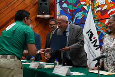 El Comisionado del INM, Francisco Garduño Yáñez, clausuró en CDMX el Programa de Especialización para Oficiales de Protección a la Infancia