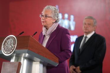 Andres Manuel López Obrador y Olga Sánchez Cordero.