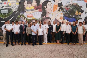 Comisionado del INM, Francisco Garduño Yáñez, recorrió las instalaciones rehabilitadas de la Estación Migratoria de Acayucan, Veracruz.
