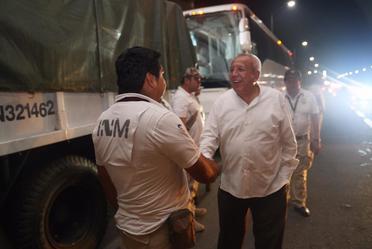Recorrido de supervisión por parte del Dr. Francisco Garduño Yáñez en Chiapas.
