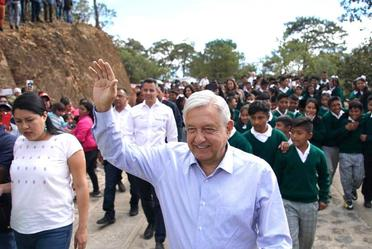 Acciones para el Bienestar de Oaxaca. Inauguración del camino rural Santos Reyes Yucuná y diálogo con el pueblo mixteco