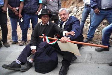 Acciones para el Bienestar de Oaxaca. Inauguración del camino rural San Andrés Nuxiño
