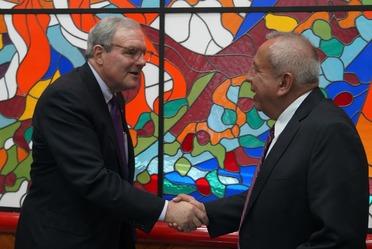Reunión de trabajo con el alcalde de El Paso Texas, Mayor Dee Margo.