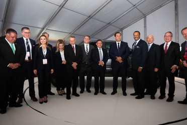 2020-feb-06, Inauguración de la compañía automotriz Toyota, segunda planta en México