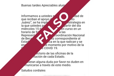 Difunden información falsa para el cobro de Becas Benito Juárez