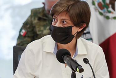 Imagen en la que aparece la Directora General de Conagua, Blanca Jiménez Cisneros.