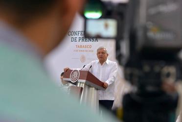 Conferencia de prensa del presidente Andrés Manuel López Obrador, del 5 de junio de 2020