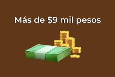 Más de $9 mil pesos.