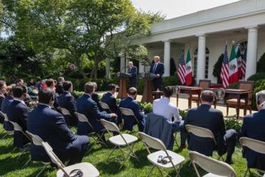 Firma de Declaración Conjunta y mensaje a medios desde la Casa Blanca