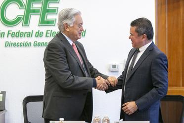 Firma de convenio de colaboración INDAABIN-CFE