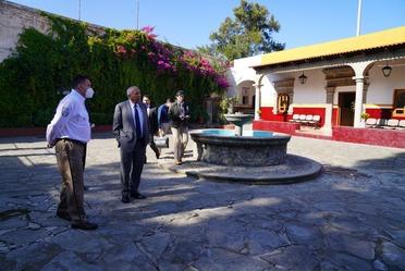 Reunión de trabajo de Comisionado del INM en Tlaxcala