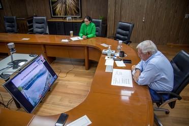El Secretario de Agricultura en reunión virtual con miembros de la Pronaes con el fin de impulsar el desarrollo de proyectos e impactaren la economía de zonas rurales.