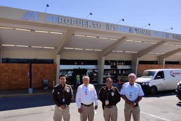 Comisionado del INM, supervisó la labor del Instituto en el Aeropuerto de Campeche y en nuestra sede de la entidad.