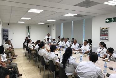 El comisionado del INM, Francisco Garduño Yáñez supervisó la labor del INM en el estado de Quintana Roo.