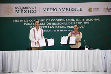 """Firmamos el Convenio de Coordinación Institucional para la Gestión Regional de Residuos """"Basurero Las Matas, Veracruz"""""""
