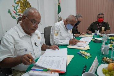 El comisionado del INM, Francisco Garduño visitó Veracruz para supervisar el trabajo y fortalecer las relaciones interinstitucionales