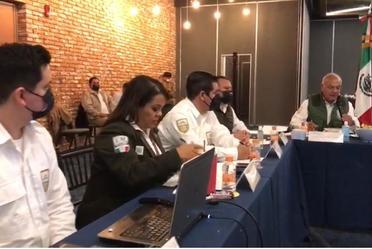 El comisionado del INM, Francisco Garduño Yáñez, realizó visita de supervisión y evaluación en el estado de Nuevo León