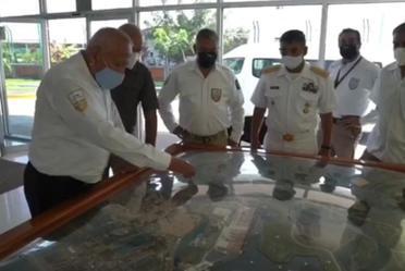 En gira de trabajo por Michoacán el comisionado, Francisco Garduño