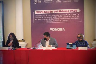 Presentación de avances a la CONAVIM, sobre la segunda solicitud AVGM para los municipios de Cajeme, Empalme, Guaymas, Hermosillo, Nogales y San Luis Río Colorado.