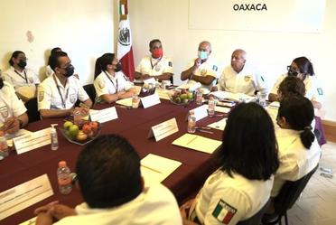 Comisionado del INM realiza gira de trabajo por Oaxaca para supervisar la labor del Instituto