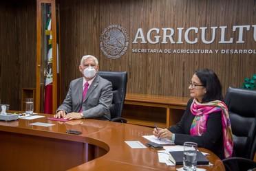 """El Secretario de Agricultura en conferencia virtual de preparación del Proyecto GEF (Fondo Mundial para el Medio Ambiente) """"Integración de la Biodiversidad en la Agricultura en Paisajes Rurales de México"""""""
