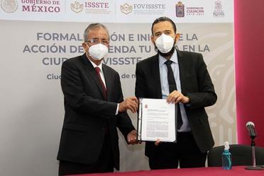 """Avanza programa """"Tu Casa en la Ciudad"""" de FOVISSSTE; se formaliza convenio con el municipio de Culiacán"""