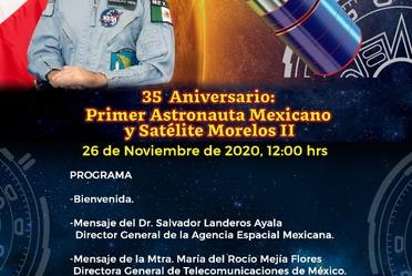 Evento 35 Aniversario: Primer Astronauta Mexicano y Satélite Morelos II
