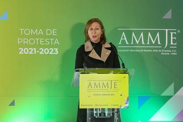 2021-feb-17, La secretaria de Economía, Tatiana Clouthier, participa en la toma de protesta de la AMMJE