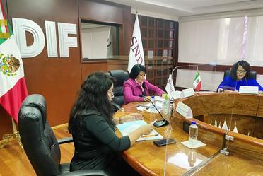 En el encuentro, presidido por la titular del DIF Nacional, María del Rocío García Pérez, se destacó la importancia del trabajo interinstitucional.