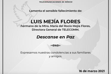 Esquela para Luis Mejía Flores