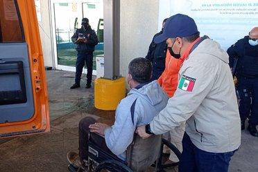 Grupo Beta Tecate brinda primeros auxilios a persona migrante