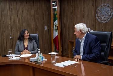 La Titular de Secretaría de la Función Pública en reunión con el Secretario de Agricultura y Desarrollo Rural.