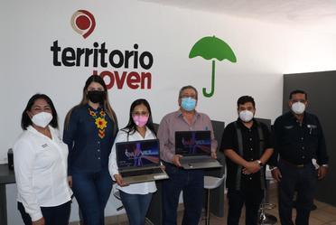 Arrancamos este jueves en #Tecuala, con la finalidad de dar apertura al centro #TerritorioJoven - Club por la Paz del municipio., un espacio acondicionado para el aprendizaje, reunión y participación juvenil.