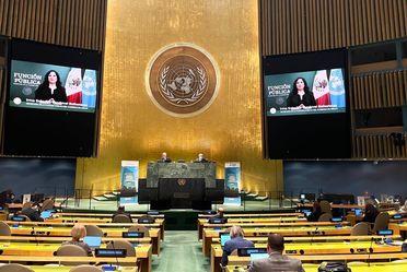 Ante Naciones Unidas, la Secretaria Sandoval Ballesteros expone que la transformación política sólo es posible erradicando la corrupción