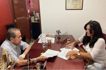 Firma de escritura de cancelación parcial de hipoteca del Fraccionamiento Arboledas, Ahualulco De Mercado, Jalisco