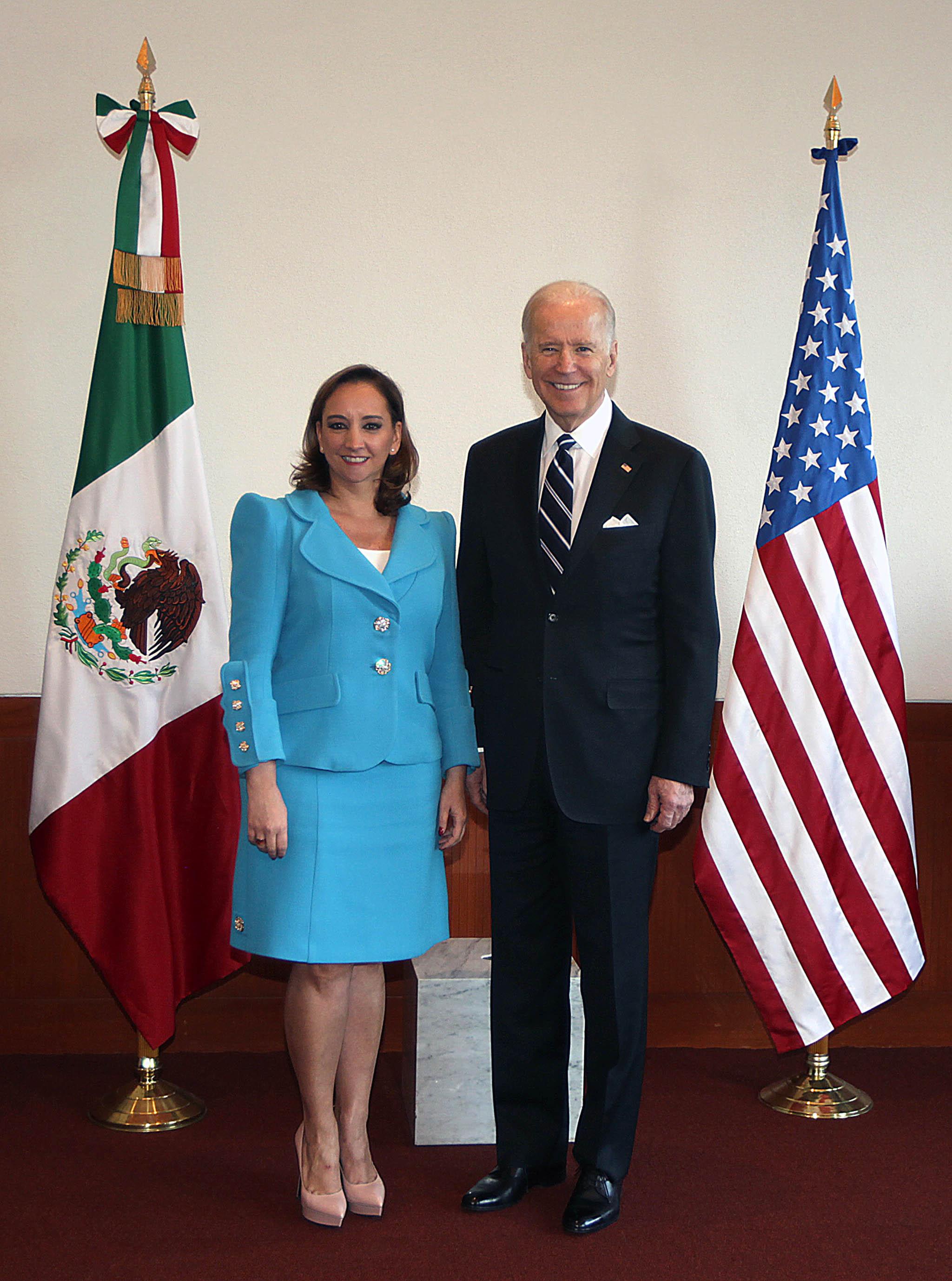 FOTO 1 Canciller Claudia Ruiz Massieu recibi  al Vicepresidente de Estados Unidos  Joseph Bidenjpg