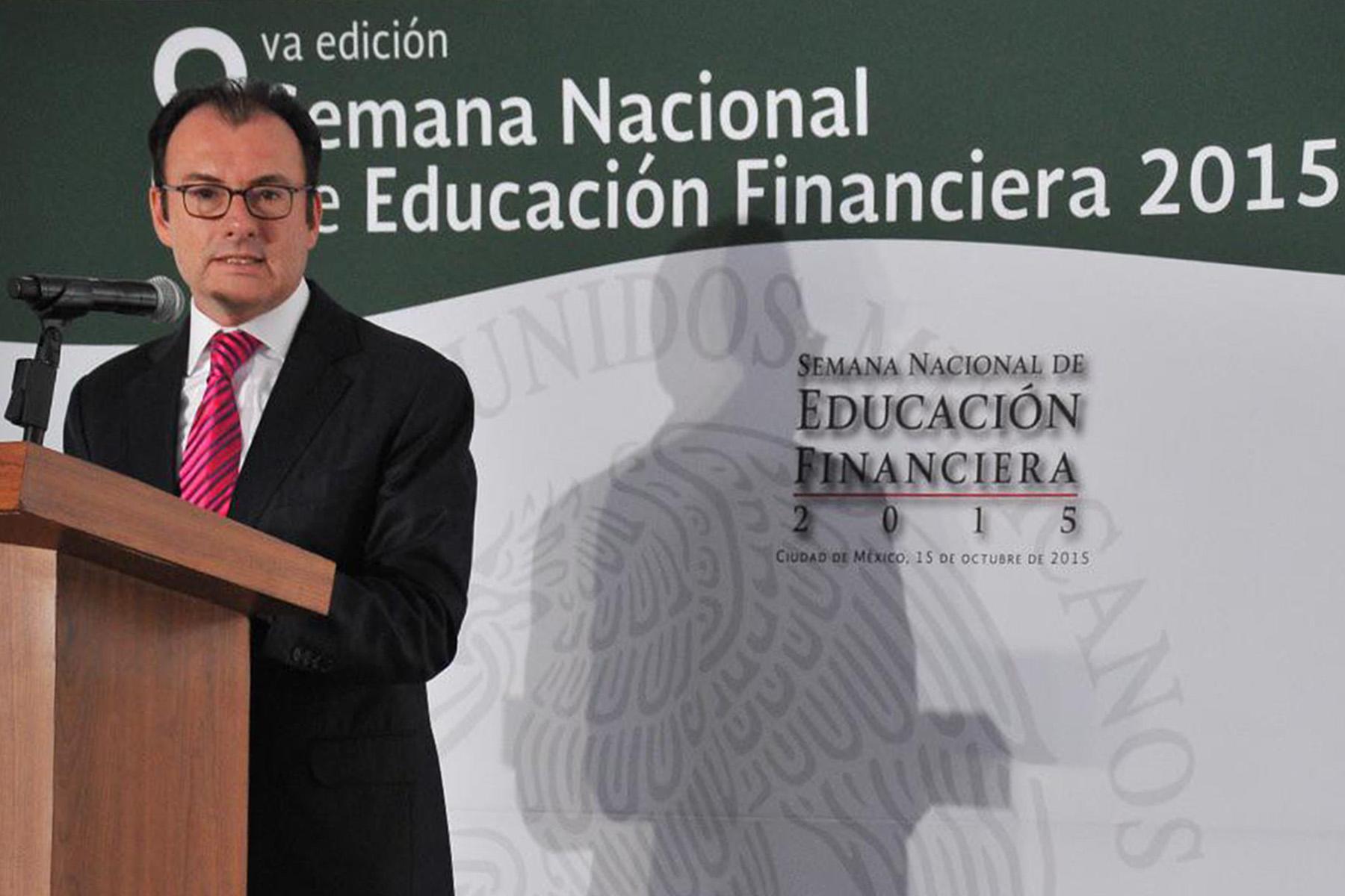 Dr. Luis Videgaray Caso, Secretario de Hacienda y Crédito Público. Inauguración de la Semana Nacional de Educación Financiera 2015.
