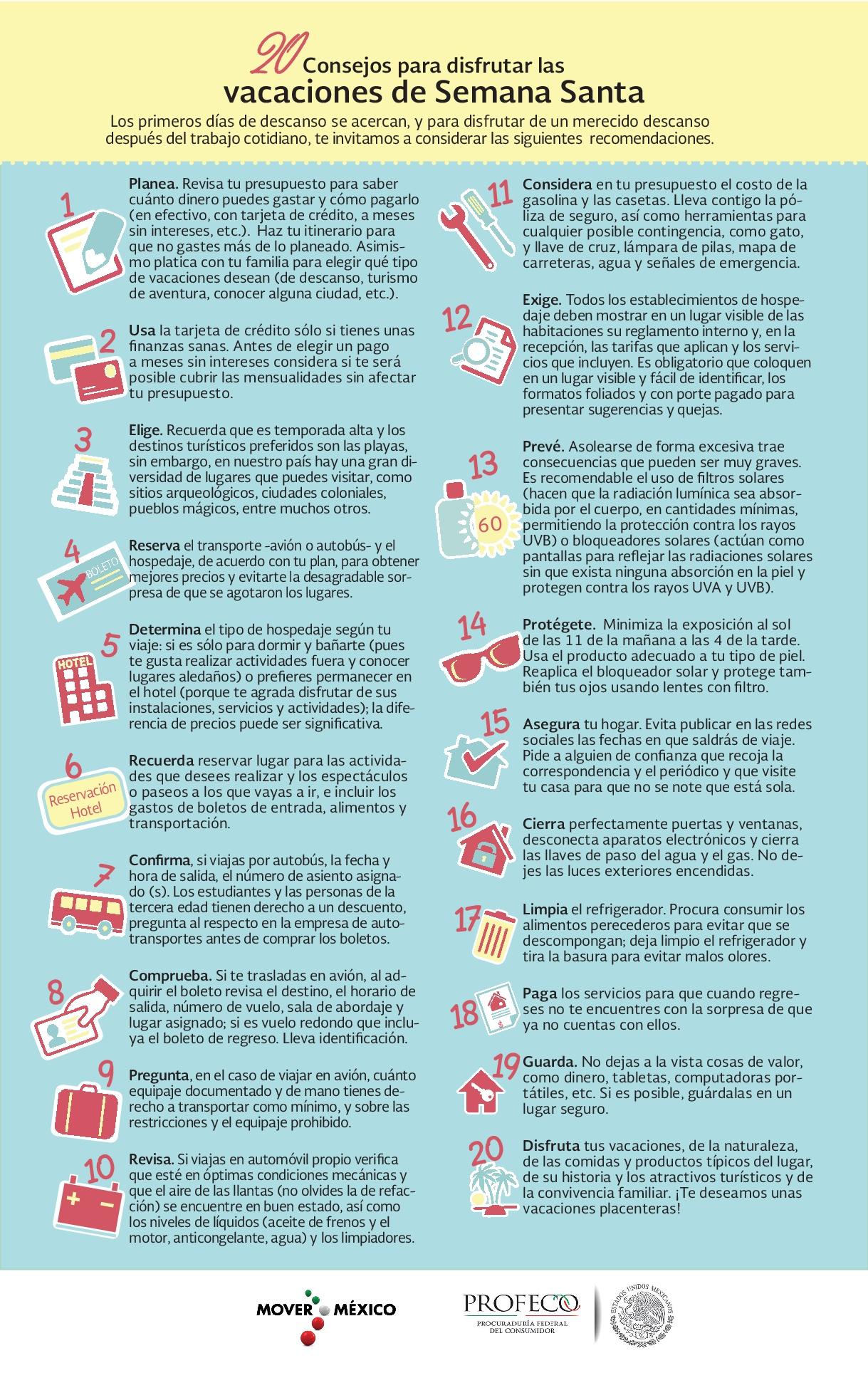 20 Consejos vacaciones de Semana Santa 001jpg