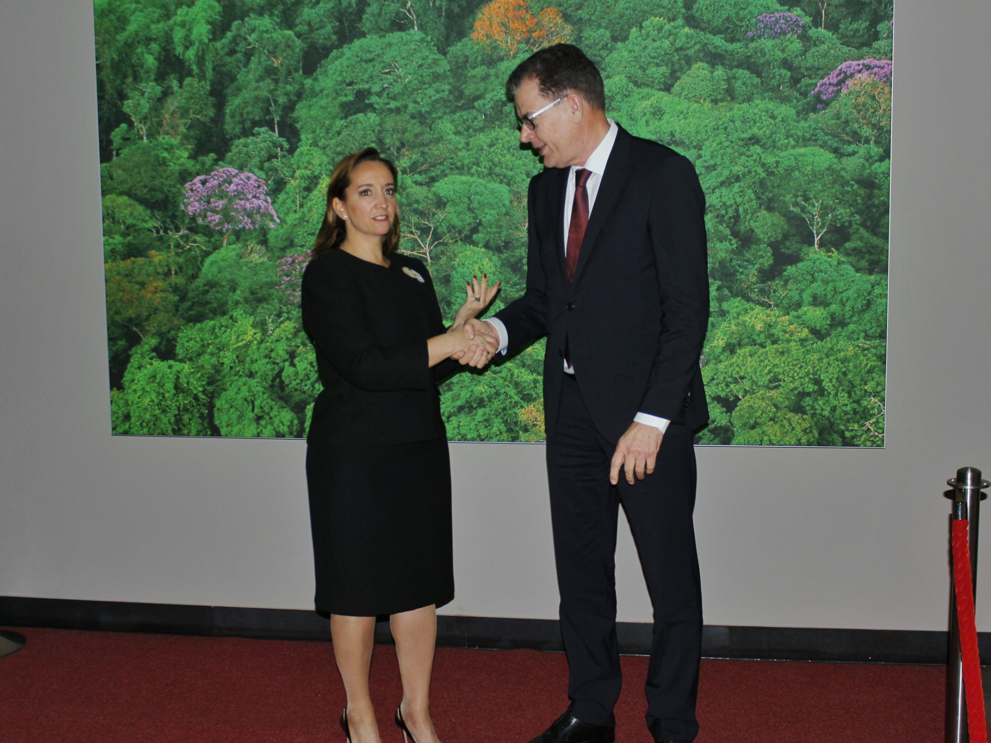 FOTO 4 Canciller Claudia Ruiz Massieu con el Ministro Federal de Cooperaci n Econ mica y Desarrollo  Gerd M llerjpg