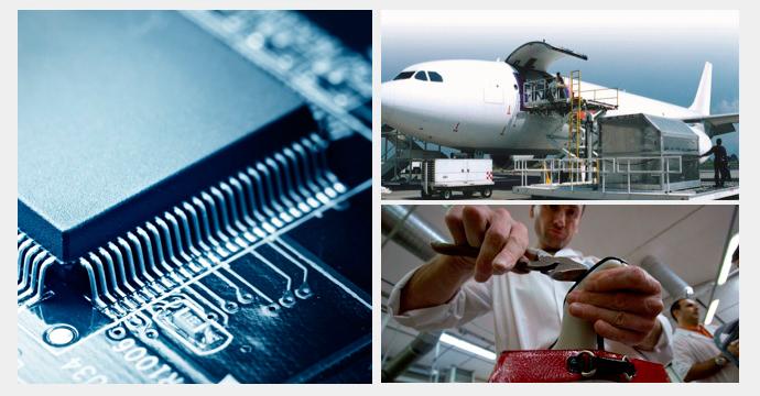 sectores productivos, aeroespacial, electrónica