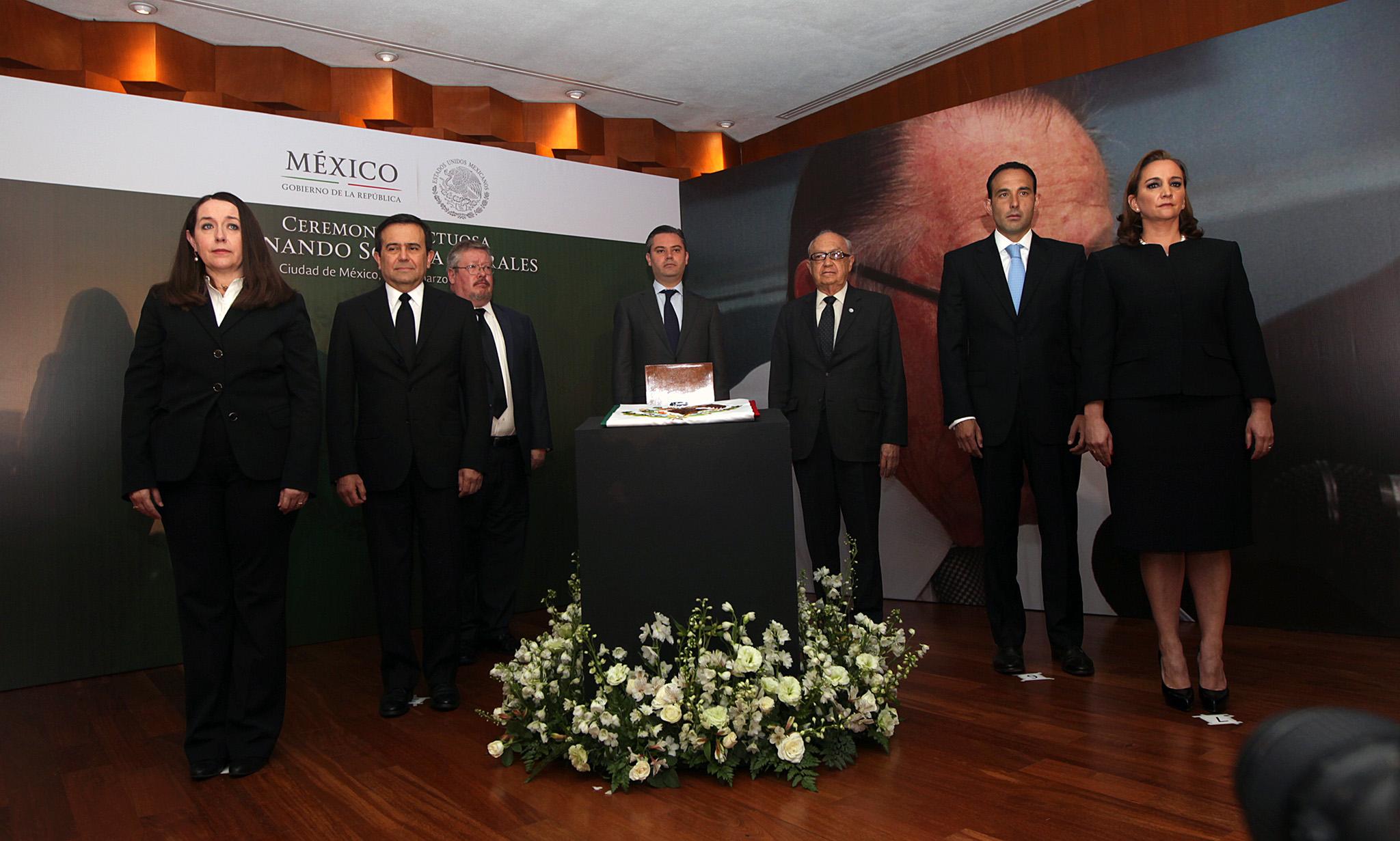 Ceremonia luctuosa del ex Canciller Fernando Solana 04jpg