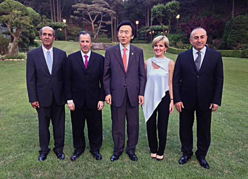 FOTO Cancilleres de pa ses MIKTA conversan sobre seguridad  desarrollo y cooperaci n internacionaljpg