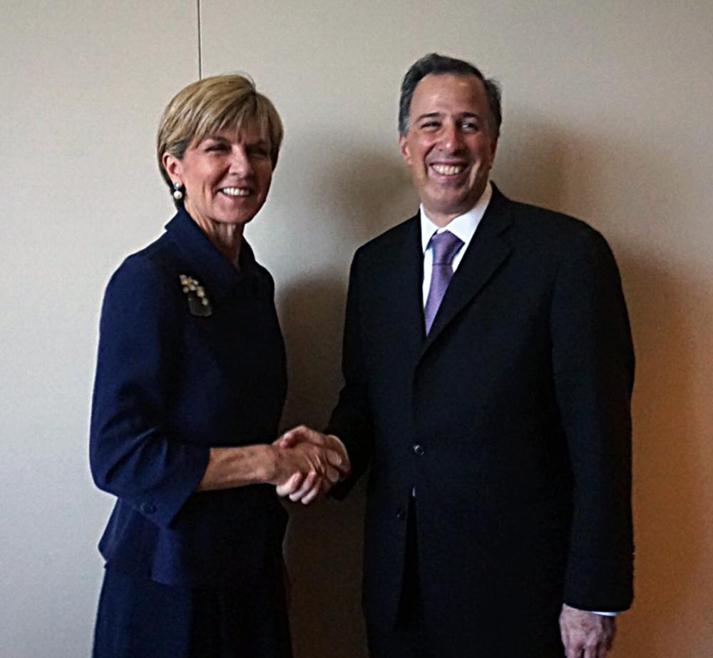 FOTO Canciller Jos  Antonio Meade y la ministra de Relaciones Exteriores de Australia  Julie Bishopjpg