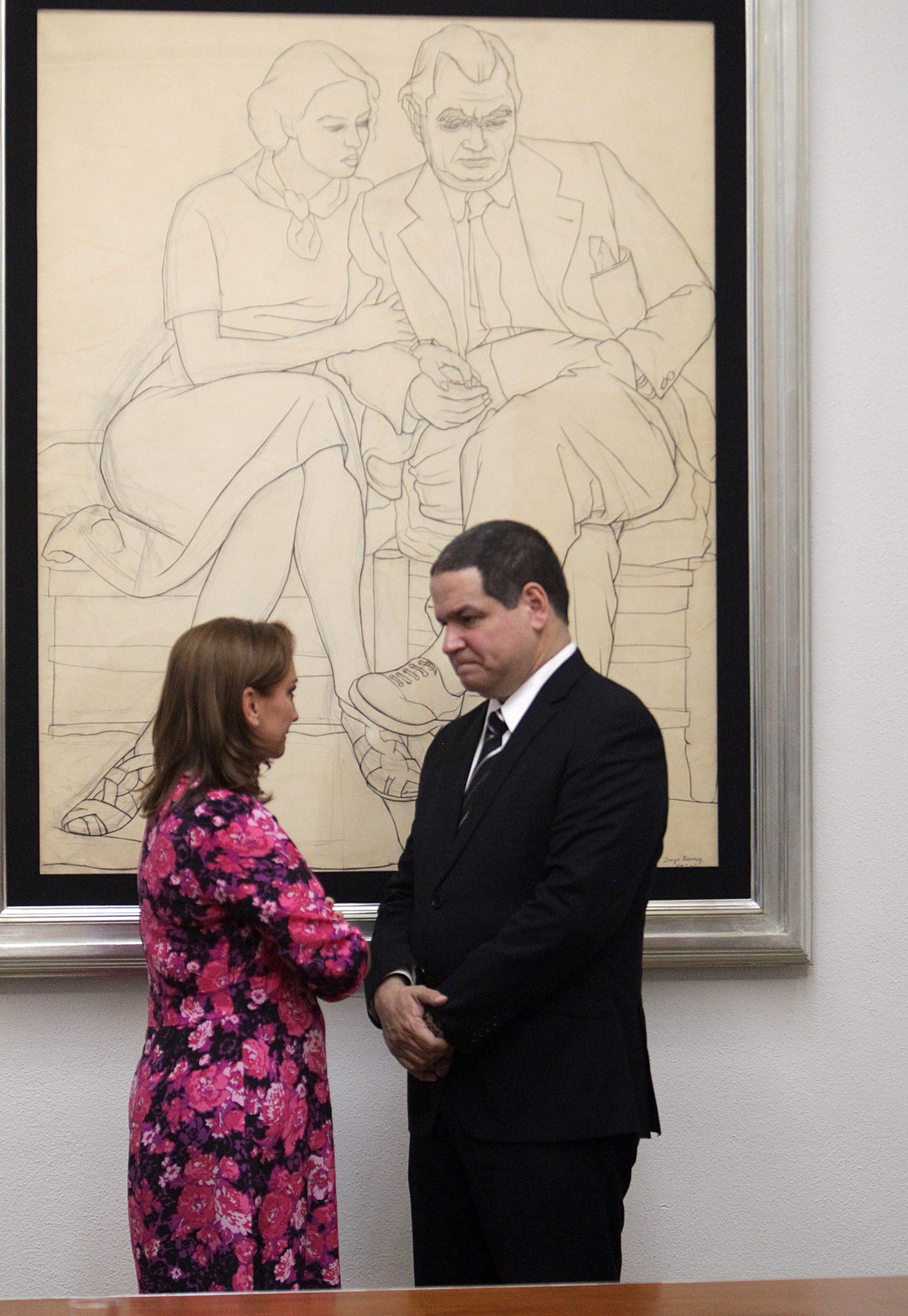 FOTO 2  La Canciller Claudia Ruiz Massieu  con el Presidente de la Comisi n de Pol tica Exterior  Soberan a e Integraci n de la Asamblea Nacional  Luis Floridojpg