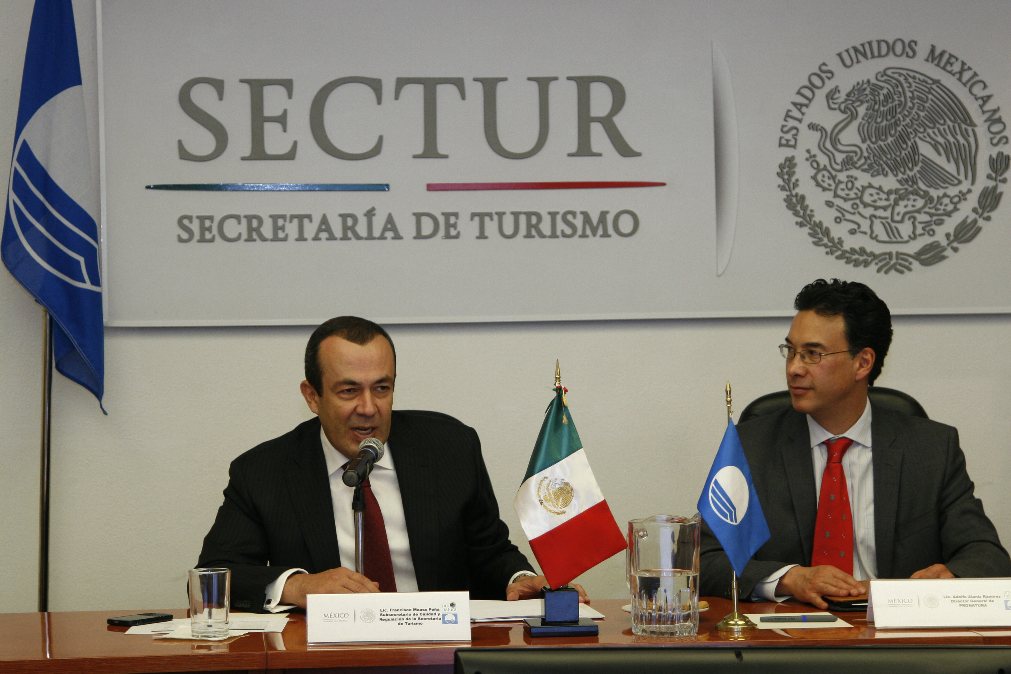 Sectur blue flag